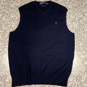 Polo by Ralph Lauren navy vest size small GUC